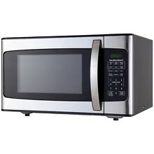 Hamilton Beach 1 1 Cu  Ft  1000 Watt Microwave  Stainless Steel