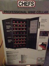 32 Bottle Wine Cooler Cellar Refrigerator Thermoelectric Contemporary