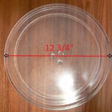 12 3 4  GE WB49X10079 Microwave Clear Glass Turntable Plate Tray Used Clean