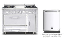 Viking Tuscany 48  Antique White Dual Fuel Range w  Dishwasher   TVDR4804GAW