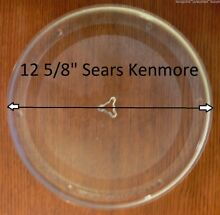 12 5 8  Kenmore Rare Microwave Glass Turntable Plate Replacement Part Star Prong