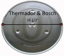 16 1 2  Thermador   Bosch Microwave Glass Turntable Plate Replacement Used