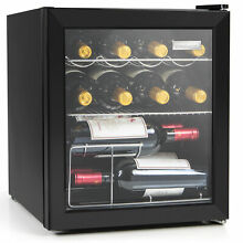 Igloo IBC16BK 15 Wine Bottle or 60 Can Glass Door Beverage Center Refrigerator