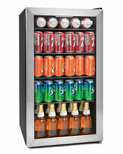 Igloo IBC35SS 135 Can Stainless Steel Glass Door Beverage Center Refrigerator