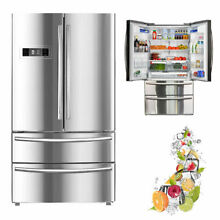 Smeta French Door Refrigerator Smart Fridge Cabinet Depth Ice Maker 20 7 cu ft