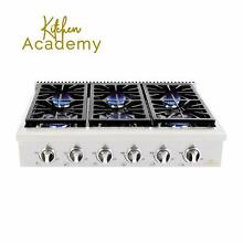 Kitchen Academy 36 Stainless Steel Gas Cooktop Rangetop with 6 Sealed Burners