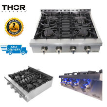 30  THOR KITCHEN Stainless Pro Style Gas Rangetop Cooktop 4 Burners HRT3003U New