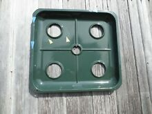 Antique Magic Chef Stove Range 550A 4 Burner Grease Tray Top Vtg Oven Green Pan