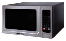 Black and Decker  1 4 cu  ft  Silver  Microwave  1000 watts