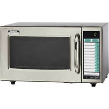 SHARP MEDIUM DUTY COMMERCIAL MICROWAVE OVEN  PROGRAMMABLE  1000 W R 21LVF