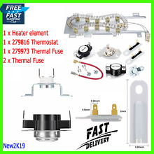 Dryer Heating Element Kit Thermostat Fuse Kenmore Elite HE3 Whirlpool 90 Series