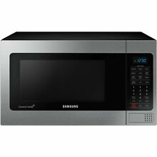 Samsung 1 1 cu  ft  Counter Top Microwave   Stainless Steel 20 38