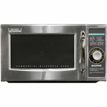 SHARP STAINLESS STEEL  MEDIUM DUTY COMMERCIAL MICROWAVE OVEN  DIAL TIMER  1000 W