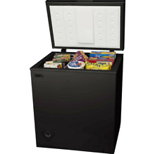 Chest Deep Freezer 5 Cu Ft Compact Dorm Upright Apartment Home Storage Black NEW