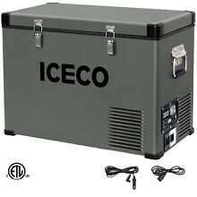 ICECO VL45 Portable Freezer  47qt Car Fridge  12v Cooler  DC 12 24V AC 110 240V