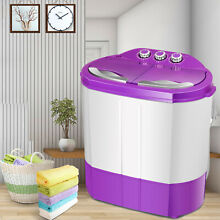 Portable Mini Washing Machine Compact Twin Tub 8 9lb Capacity Washer Spin