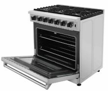 Thor Kitchen Stainless Steel 36  6 0 cu ft Gas Range Stove Baking Oven LRG3601U