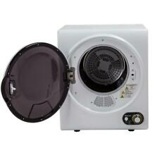 MAGIC CHEF White Electric Dryer 1 5 cu  ft 110 Volt Stainless Tub Washer