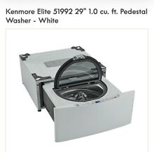 NEW Kenmore Elite 1 0 cu ft 27 inch wide white pedestal washer 51992