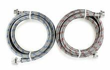 Washing Machine Stainless Steel 6ft Washer Water Supply Hoses   2 Pack Hot Cold