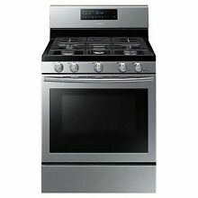 Samsung NX58H5600SS Stainless Steel 30 Inch Wide 5 8 Cu  Ft  Gas Range with Conv