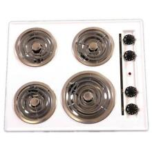 Brown   TEL03   24 Inch    Electric Cooktop   Coil Top   Black