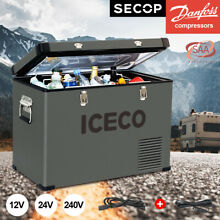 ICECO 47QT 12V Portable Freezer For Boating  Camping With Free Insulated Cover