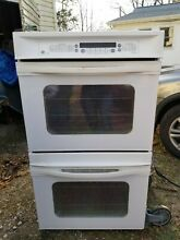 GE Profile 27  built in electric double oven  white convection True Temp