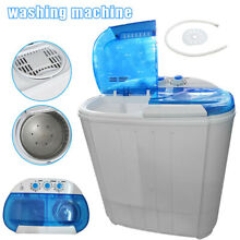 22LBS Portable Compact Mini Washing Machine Twin Tub Laundry Washer Spiner Dryer