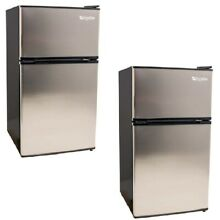 EdgeStar 19 Inch Wide 3 1 Cubic Feet Small Beverage Mini Fridge Freezer  2 Pack