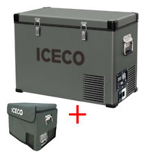 ICECO VL45 47QT Portable Freezer Fridge 12V Cooler Car Camping Truck With Cover