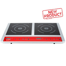 Double Induction Range Cooker Countertop Restaurant Home Electric Cooking NSF