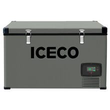78QT ICECO VL74S Car AC DC Electric Cooler Large Portable Fridge For Camping