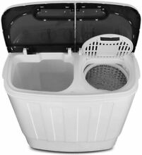 Portable Compact Mini Twin Tub Washing Machine 13lbs Spin Wash Capacity White