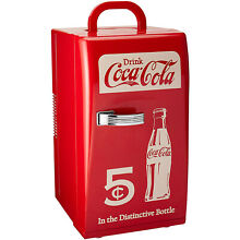 Koolatron CCR 12 Retro Coca Cola 18 Can Vintage Beverage Cooler Mini Fridge  Red