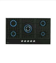 Empava 36 Gas Stove Cooktop with 5 Italy Sabaf Burners  LPG Convertible in Black