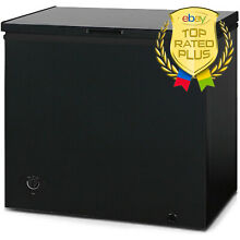 Arctic Chest Freezer 7 Cu Ft Storage Ice Deep Freeze Quick Defrost BLACK