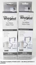 LOT 2 Whirlpool ICE2 Ice Maker Water Filter For 50 Pound Ice Machines   OEM