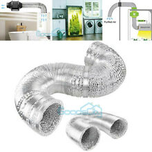 Heavy Duty Clothes Dryer Vent Hose Kit High Heat Aluminum 4in  14in  US Shipping