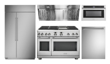 Monogram Pro Appliance Package with Gas Range and 42in Refrigerator