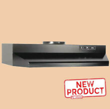 30 Inch Over The Stove Range Hood Ducted Exhaust Fan Kitchen Under Cabinet Black