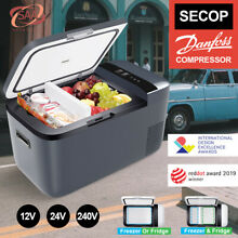 ICECO GO20 21QT Dual Zone Portable Freezer Fridge 12V Cooler APP  Truck SUV Gray