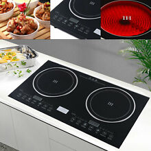 USA  2 Burners Induction Cooktop Electric Hob Cook Top Stove Ceramic Hotsale
