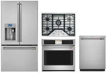 GE Cafe Stainless Kitchen Package with Cooktop and Oven Combo