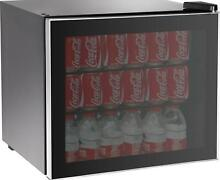 Refrigerator Mini Beer Beverage Wine Fridge Glass Door 70 Can Beverage Cooler NW