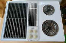 Jenn Air C206W Cooktop Downdraft Electric White with Grill