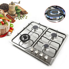 23  4 Burners Gas Cooktop Stainless Steel Built in LPG NG Gas Hob Cook Top USA