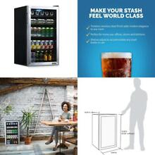 Newair Beverage Refrigerator And Cooler With Glass Door  126 Can Capacity Freest