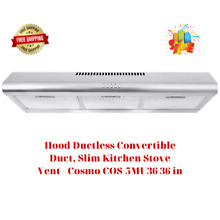 Hood Ductless Convertible Duct  Slim Kitchen Stove Vent   Cosmo COS 5MU36 36 in