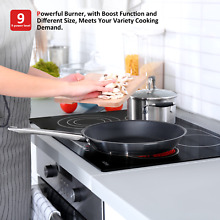 Ceramic Cooktop 30 Inch 4 Burner Built in  Touch Control  Smooth Top  Timer 220V